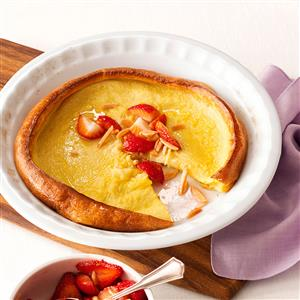 Dutch Baby Pancake with Strawberry-Almond Compote Recipe