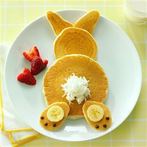 Fluffy Bunny Pancakes Recipe