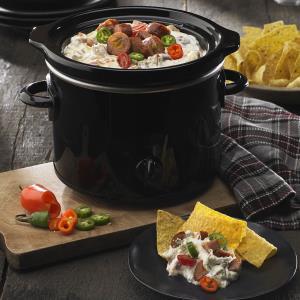 Queso Blanco & Black Bean Slow Cooker Dip Recipe