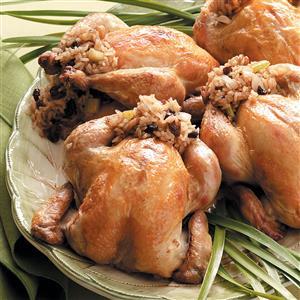 Cornish Hens Stuffed with Rice Recipe