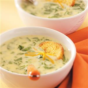 Cream of Spinach Cheese Soup Recipe