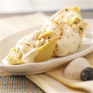 Creamy Seafood-Stuffed Shells Recipe