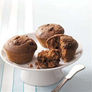 Chocolate Chocolate Chip Muffins Recipe