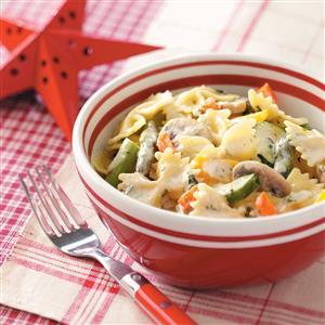 Creamy Vegetable Bow Tie Toss Recipe