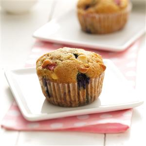 Red, White and Blue Muffins Recipe