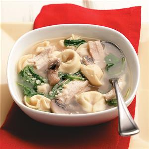Chicken & Spinach Tortellini Soup Recipe
