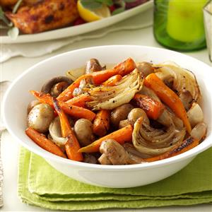 Savory Roasted Carrots with Mushrooms Recipe