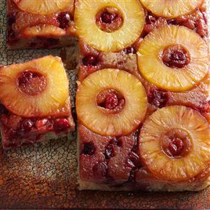 Cranberry Pineapple Upside-Down Cake Recipe