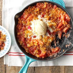 Macaroon-Topped Rhubarb Cobbler Recipe