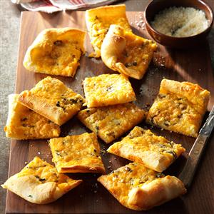 Garlic-Cheese Flat Bread Recipe