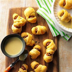 Hot Dog Mummies with Honey Mustard Dip Recipe