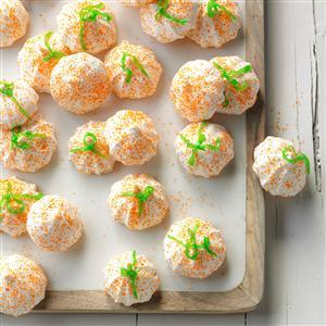 Mini Meringue Pumpkins Recipe