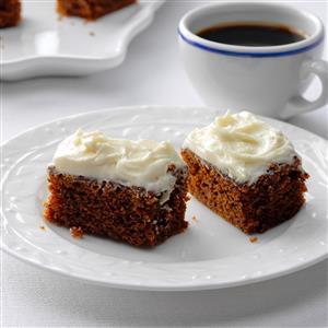 Ginger-Cream Bars Recipe