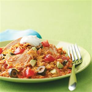 Easy mexican chicken and rice recipe taste of home easy mexican chicken and rice recipe forumfinder Image collections
