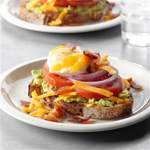 Egg-Topped Avocado Toasts Recipe