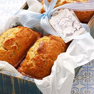 Eggnog Mini Loaves Recipe
