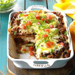 Enchilada casser ole recipe taste of home recipe forumfinder Gallery