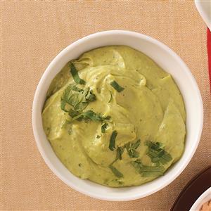 Enlightened Spicy Avocado Dip Recipe
