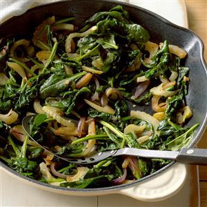 Fennel Spinach Saute Recipe