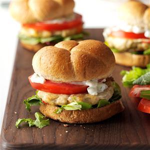 Feta Chicken Burgers Recipe