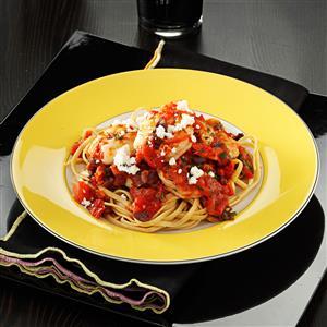 Feta Shrimp with Linguine Recipe