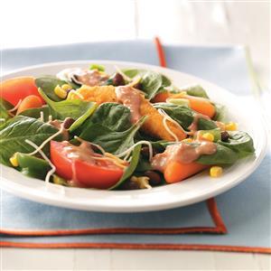 Fiery Chicken Spinach Salad Recipe