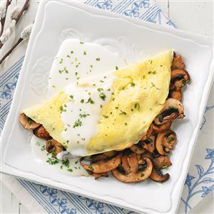Fines Herbes & Mushroom Omelets Deluxe Recipe
