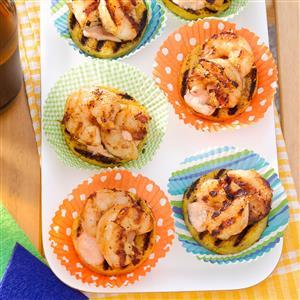 Fired-Up Polenta Shrimp Rounds Recipe