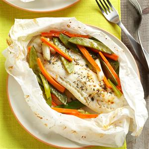 Fish & Vegetable Packets Recipe