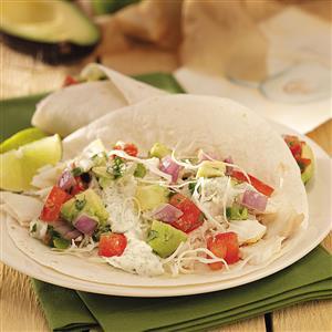 Fish Tacos with Avocado Sauce