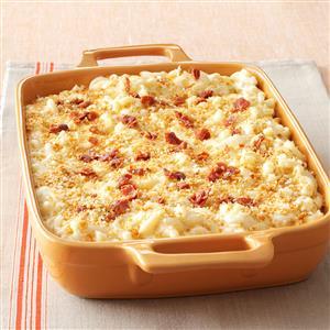Five-Cheese Macaroni with Prosciutto Bits Recipe