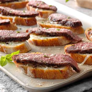 Flank Steak Crostini Recipe