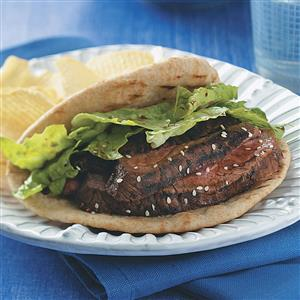 Flank Steak Pitas for Two Recipe