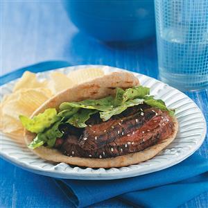 Flank Steak Pitas Recipe