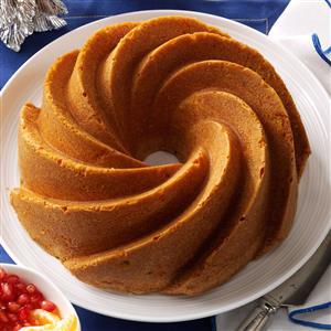 Fluted Lemon Cake with Fresh Fruit Recipe