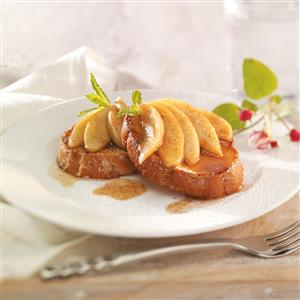 French Toast for Two with Apple Topping Recipe