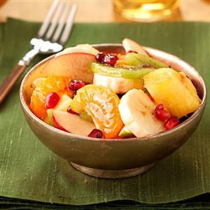 Fresh Fruit Salad with Pomegranate Recipe