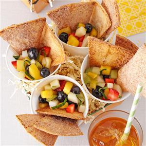 Fresh Fruit Salsa with Cinnamon Chips Recipe