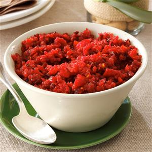 Fresh Ginger Cranberry Relish Recipe