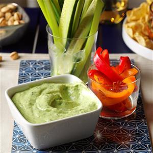 Fresh Herb Vegetable Dip Recipe