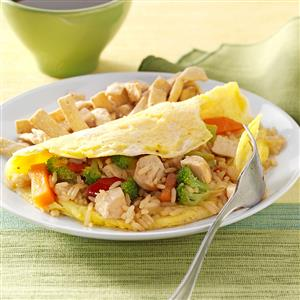 Fried Rice Omelet Recipe
