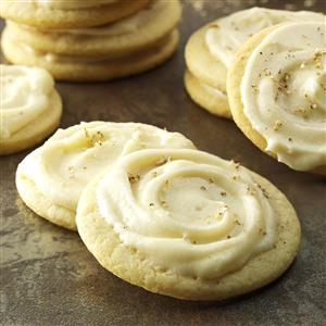 Frosted Eggnog Cutout Cookies Recipe