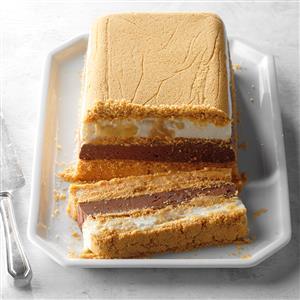 Frozen Peanut Butter and Chocolate Terrine Recipe