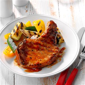 Fruit-Glazed Pork Chops Recipe