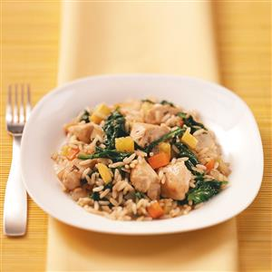 Garden Vegetable & Chicken Skillet Recipe