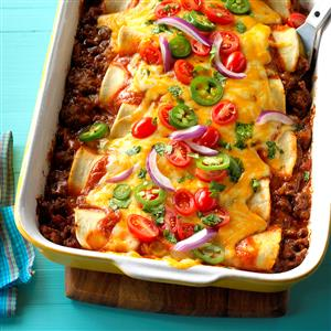 Garlic Beef Enchiladas Recipe