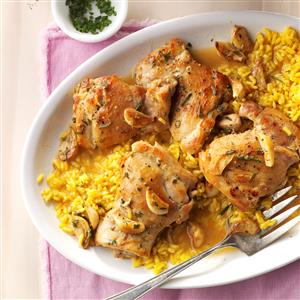 Garlic Chicken with Herbs Recipe