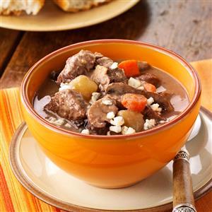 Garlic Mushroom French Beef Stew Recipe