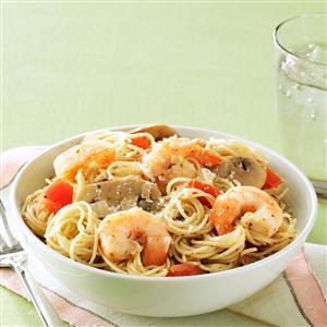 Garlic Shrimp & Mushroom Pasta Recipe