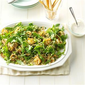 Garlic Shrimp & Rice Salad Recipe